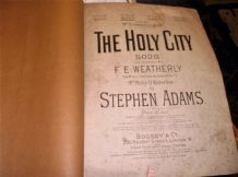 ANTIQUE 1892 SHEET MUSIC PIANO THE HOLY CITY STEPHEN ADAMS BOOSEY H689
